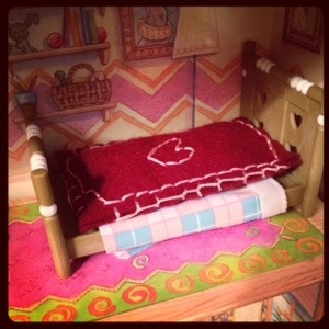 little felted bed
